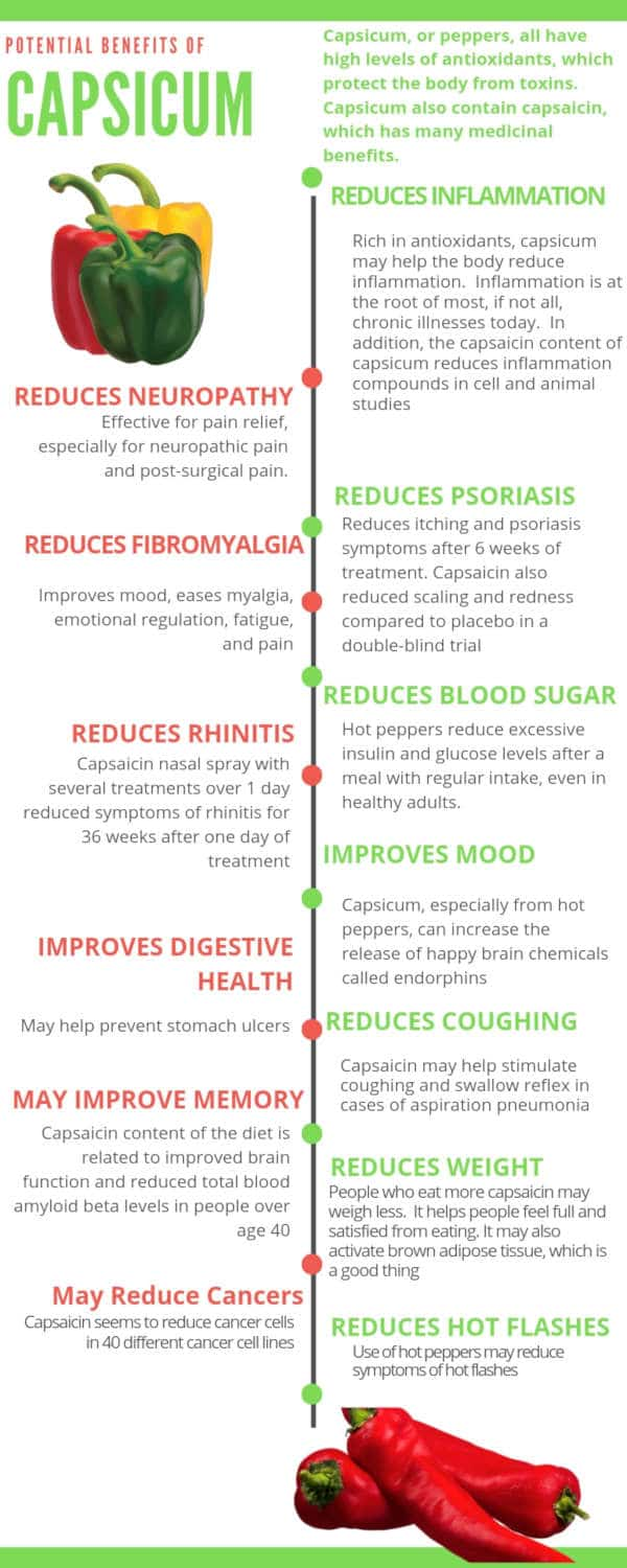 Capsicum infographic by The Healthy RD