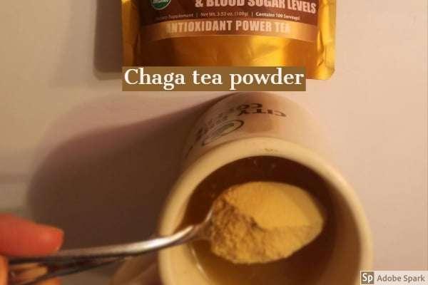 Chaga tea powder image by The Healthy RD