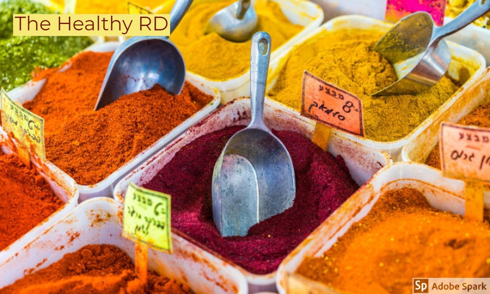 Spice health benefits by The Healthy RD