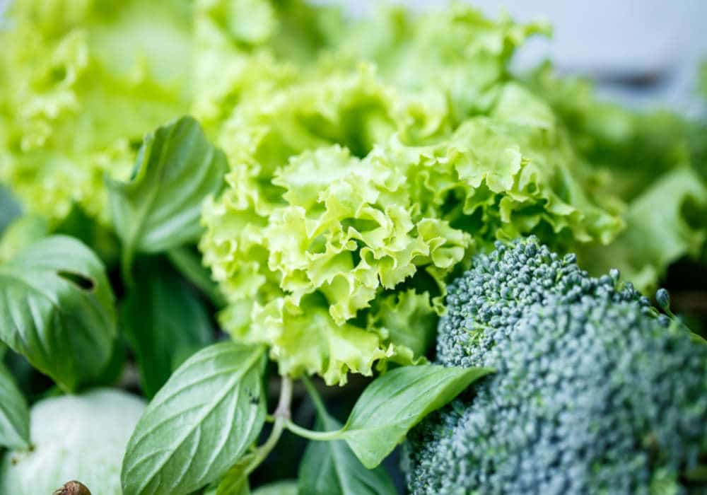 Bright leafy greens and broccoli by The Healthy RD