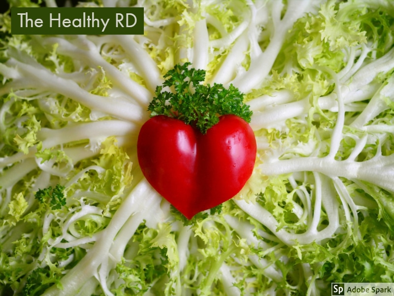 Vegetables in the shape of a heart by The Healthy RD