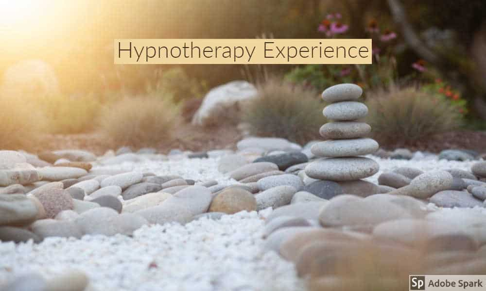 The hypnotherapy experience depicted by stacked rocks in a dry creek bed by The Healthy RD