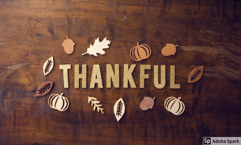 Thanksgiving image depicting thankfulness by The Healthy RD
