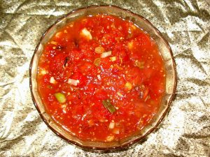 Homemade preserved salsa by The Healthy RD