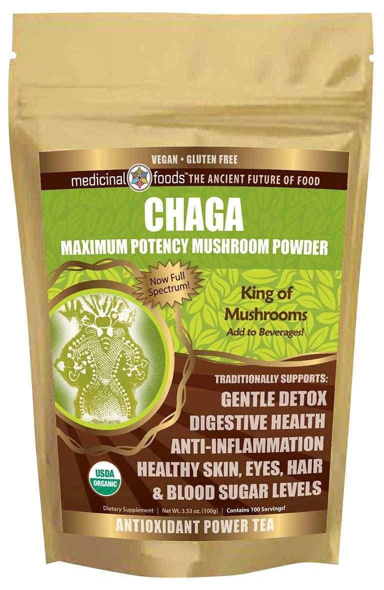 Chaga tea powder by The Healthy RD