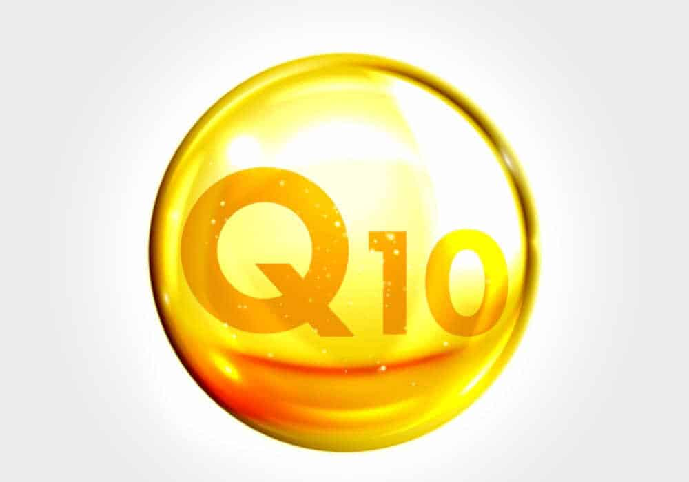 Amber globe with Q10 vitamin image by The Healthy RD