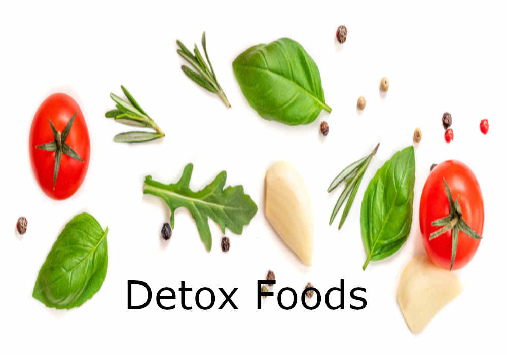 Arugula, rosemary, tomatoes, garlic, peppercorns, coriander detox foods by The Healthy RD