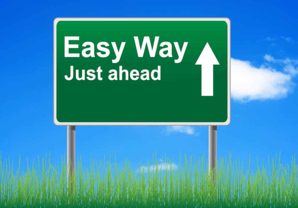 Road sign that says Easy Way Just Ahead by The Healthy RD