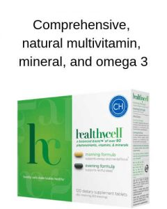 Comprehensive natural multivitamin, mineral, and omega 3 by The Healthy RD