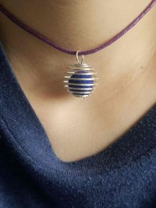 Purple diffuser necklace by The Healthy RD