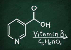 Vitamin B3 chemical structure by the Healthy RD