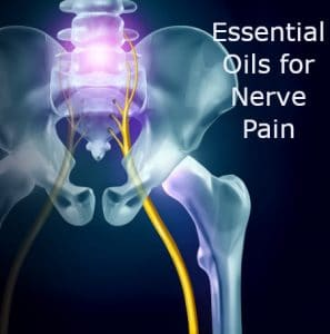 Sciatic nerve depiction and essential oils for nerve pain by The Healthy RD