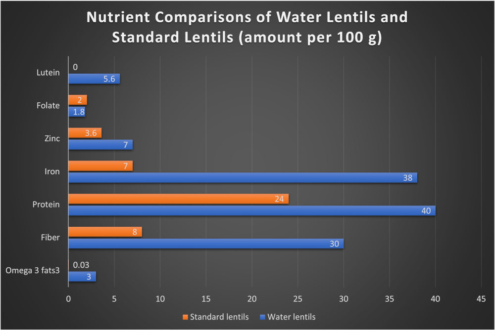 Water lentil and red lentil nutrient comparison by The Healthy RD