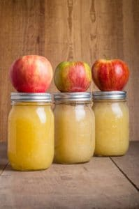 Canning applesauce with the whole red apples by The Healthy RD
