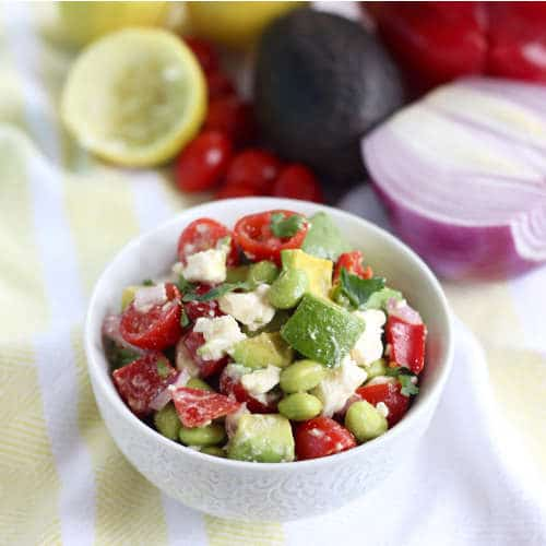 Edamame salsa by The Healthy RD