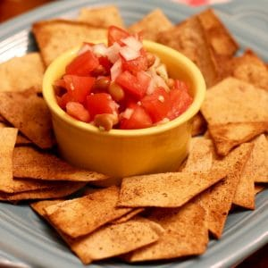Homemade Mexican Salsa WIth Flatbread by The Healthy RD