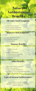 Natural antihistamine infographic by The Healthy RD