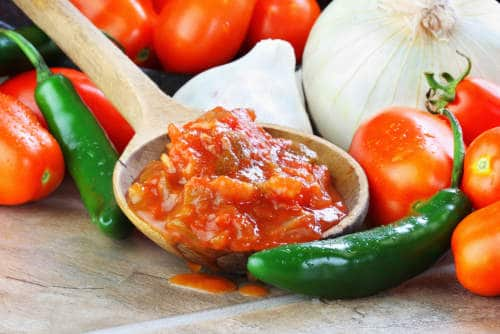 Salsa and fresh ingredients by The Healthy RD