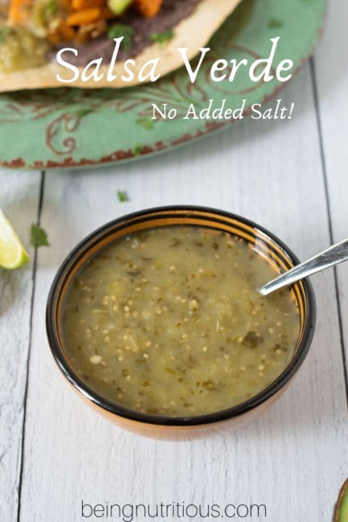 Salsa verde recipe by The Healthy RD