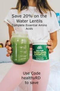 Save 20% on water lentils by The Healthy RD