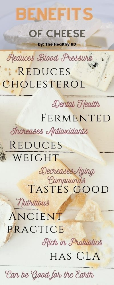 Benefits of cheese infographic by The Healthy RD