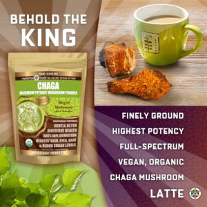 Chaga mushroom latte by The Healthy RD