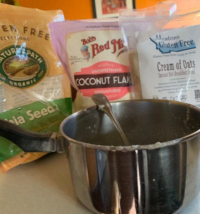 Low carb oatmeal ingredients by The Healthy RD