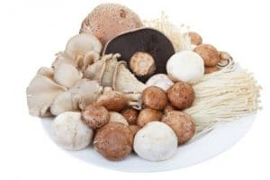Button mushrooms, crimini mushrooms, and assorted fungi by The Healthy RD