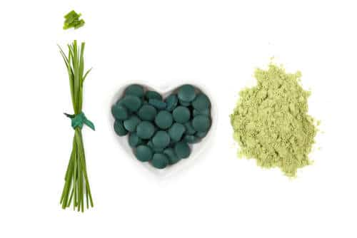 Heart healthy supplements of wheat grass, spirulina, and chlorella by The Healthy RD
