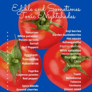 Nightshade foods infographic by The Healthy RD