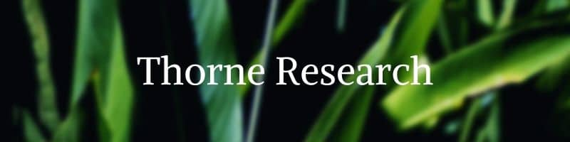 Thorne Research Brand by The Healthy RD