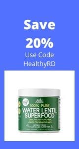 Water lentil promo by The Healthy RD
