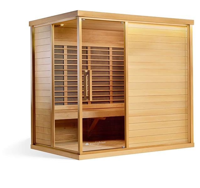 Best infrared sauna as the Signature 4 basswood option by The Healthy RD
