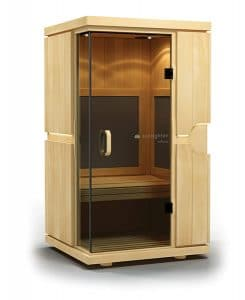 Aspire sauna in basswood by The Healthy RD