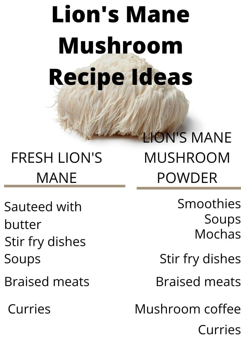 Lion's Man Mushroom Recipe Ideas Infographic by The Healthy RD