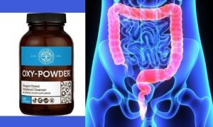 Oxy Powder Review and a depiction of a healthy colon by The Healthy RD