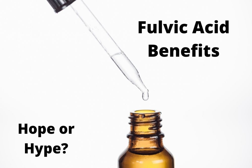 Fulvic acid benefits hope or hype with a fulvic acid bottle by The Healthy RD