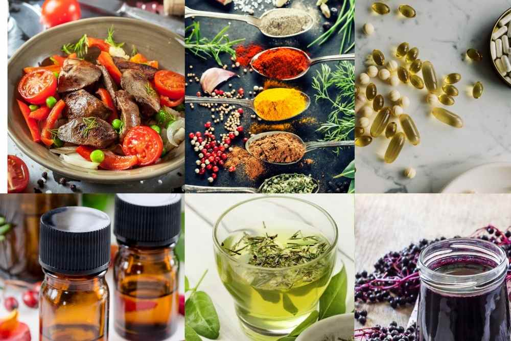 Natural antivirals as nutritious foods, herbs, spices, supplements, teas, and essential oils by The Healthy RD